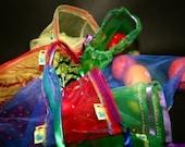 12 Giant set Reusable Produce bag set Eco rainbows and raspberries