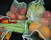 Corded Mint Full  set Reusable produce bags Eco storage must have