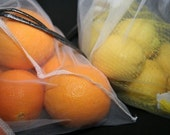 2 jumbo white produce bags reusable and eco friendly GO green today