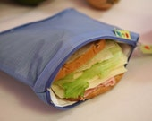 ZIp Insulated Sandwich bag ReUsable Eco friendly pIck your color