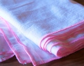12 Hot Pink Trim Reusable Everyday Unpaper towels and napkins