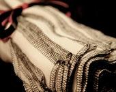 12 Black or Grey trimmed Rg Unpaper towels reusable napkins
