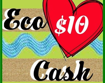 10 Eco cash GIFT Certificate The perfect gift