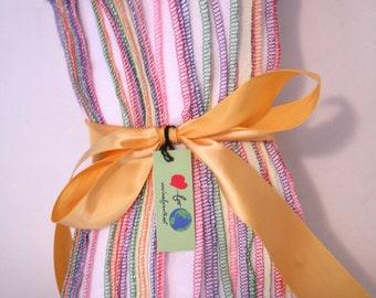 38 Rainbow Solid trim Reusable unpaper towels or napkins