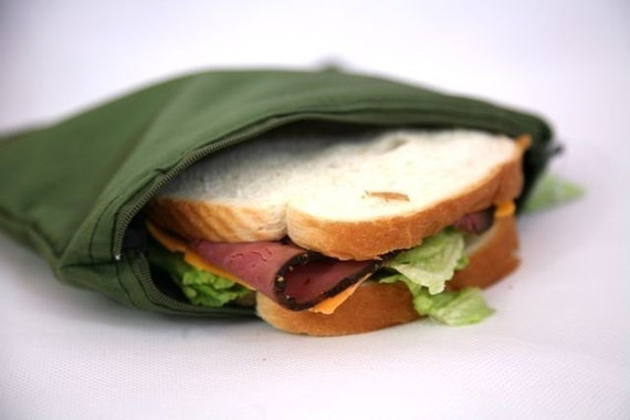 Reusable Sandwich Bag - Insulated and water resistant Many colors