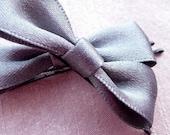 Pair of Grey Hair Bows