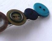 Boho Chic Button Barette