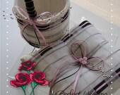 Custom Order for salleen024 - 1 Ring Bearer Pillow and 1 Flower Girl Basket