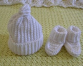 White cap and booties