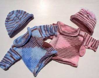 Striped Variegated Pullover Sets