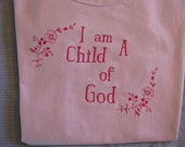 Pink on Pink Ladies/Girls Embroidered Tee