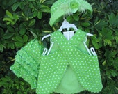 Reversable Summer Sun Dress with Hat and Bloomers