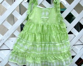Girls 4T Sundress with Ruffles Embroidered Eyelet - BonJeanCreations