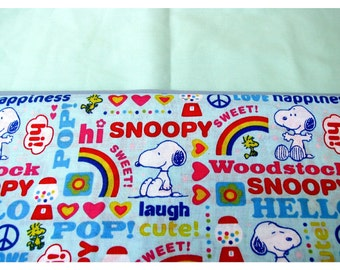 Personalized Snoopy, Nemo, Spider Man, Dusty Embroidered Pillowcase Standard or Toddler/Travel Size