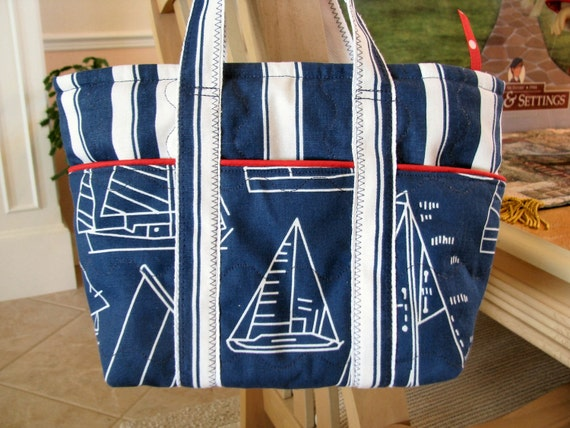 Decorator Nautical Quilted Tote