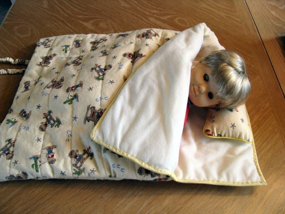 Boys Bitty Baby Sleeping Bag Quilted