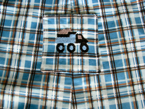 Boys Jon Jon Shortalls Romper Blue Plaid