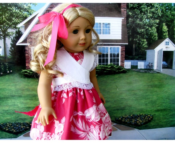 American Girl 18 Inch Doll Dusty Rose Dress with Detachable Collar