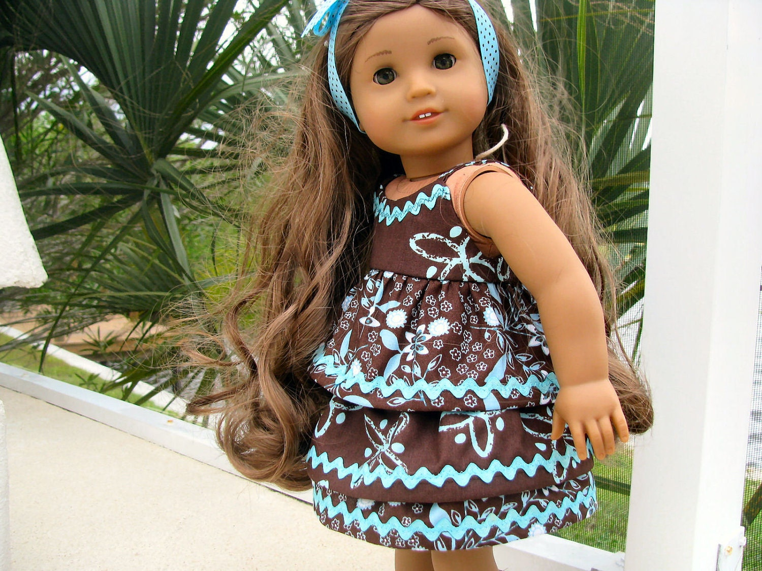 Two Piece Dress For American Girl Kanani Doll 18 Inch