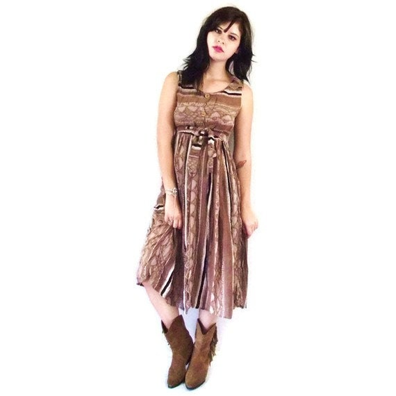 ON SALE 20% off Vintage Coyote Canyon Midi Dress