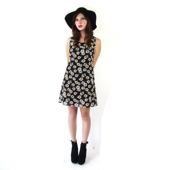 Vintage Ditzy Daisy Mini Dress