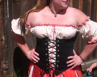 Scarlet Pirate Wench Chemise