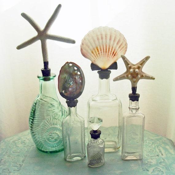 abalone shell soldered vintage bottle