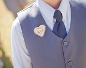 Personalize - Birch Heart Pin/ Boutonniere