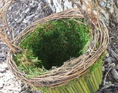 Green Stem Flower Basket