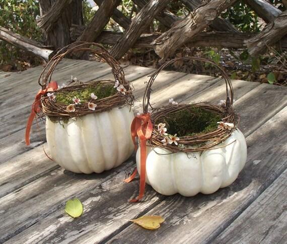 White Pumpkin Basket