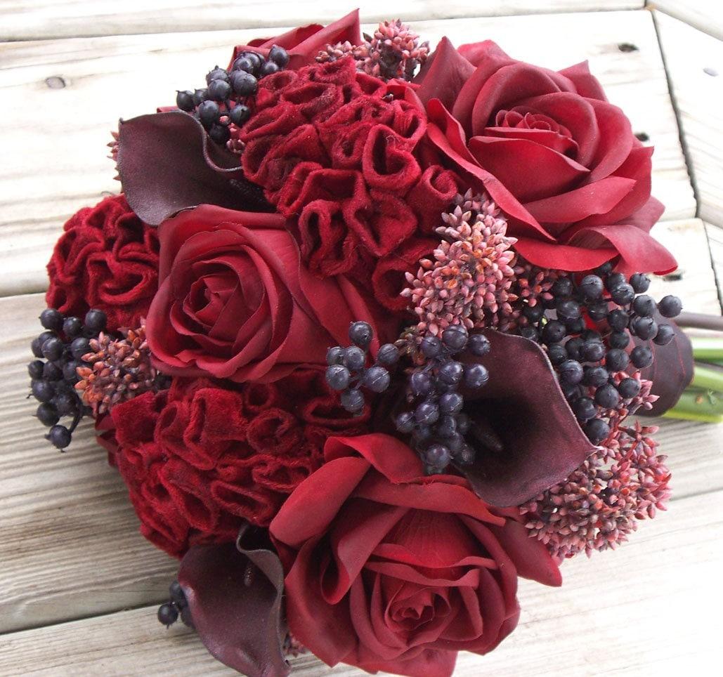 Red Rose Coxcomb Bouquet