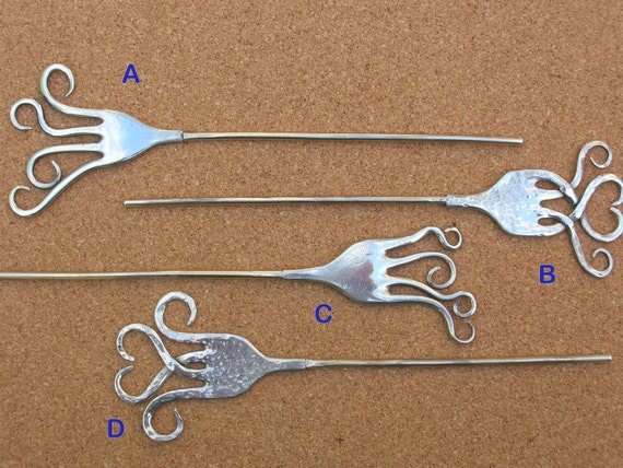 Upcycled Fork Hair Stick or Shawl Pin - pick up the one you prefer