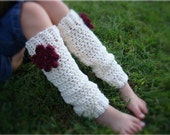 Little Miss Frilly flower leg warmers U choose colors and size 12mths to preteen
