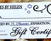 Gift Cerificate, 35 Dollars