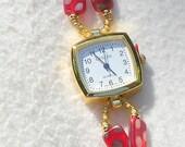 Polka Dotted Watch Jewelry W018