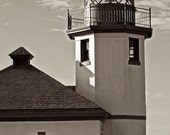 Seattle Lighthouse, Black and White