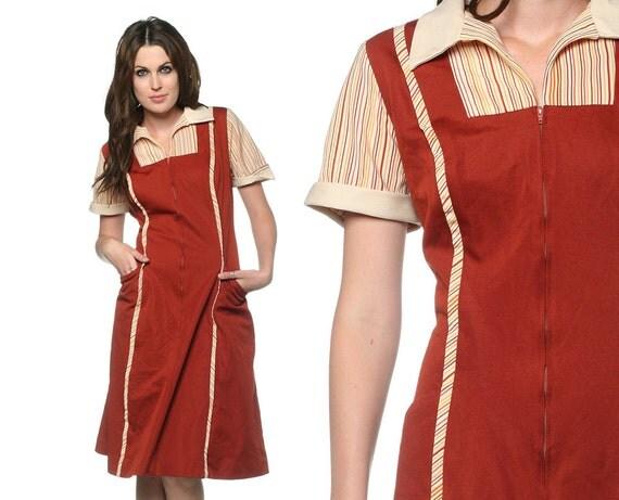 Diner Uniform Dress Diner Uniform Rust