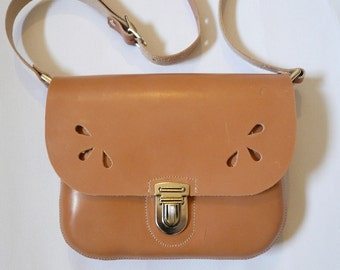 Girl's Satchel Natural Leather