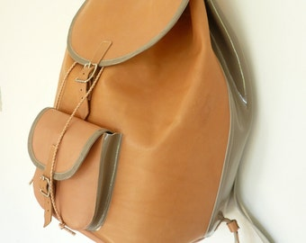 SALE! Natural Veg-Tan Leather Backpack