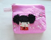 Sale Curly Girl purse pink