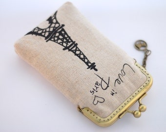 iPhone Case iPhone sleeve gadget case / Glasses Case - Love in Paris / Tower Eiffel ( iPhone 7, iPhone 7 Plus, Samsung Galaxy S7 etc. )