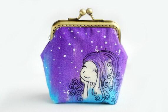 Sale Make a wish Whimsical Sky Mermaid Purse
