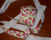 1 Yard of Adorable Light and Hot Pink Strawberry Shortcake Grosgrain Ribbon 7/8th Inches Wide