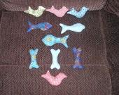 2 PURRR-FECT KITTY Catnip Cat Toys - Choose bird, fish or bone