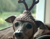 Reserved for Ranting - Dog hat - REINDEER - Christmas pet hat - Humorous Funny Antlers - 2 to 20 lb pets- Made to Order