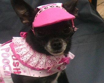 SUN VISOR / BASEBALL Hat / Cap - Many fabrics - 2 - 15 lb dogs- Made to order