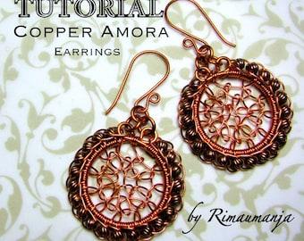 Copper Amora Earrings Tutorial
