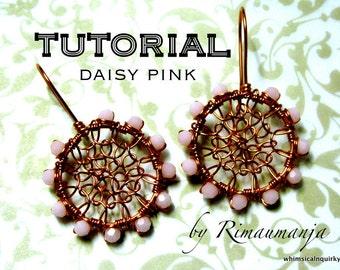 Daisy Pink Earrings