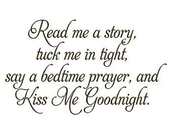 Read Me a Story Baby Nursery Vinyl Wall Decal - Nursery Poem Quote Saying Bedtime Prayer BA0055