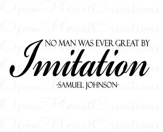 No Man Was Every Great by Imitation Vinyl Wall Quote - Wall Decal Quote Lettering Sticker Transfer 10H x 28W QT0180
